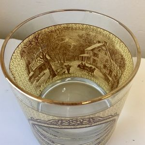 Vintage Dining - Houze 4 SEASONS Currier&Ives Low Ball Glass Set